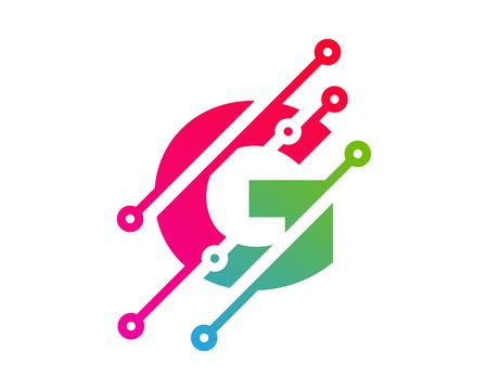 G Digital Letter Technology Logo Icon Design