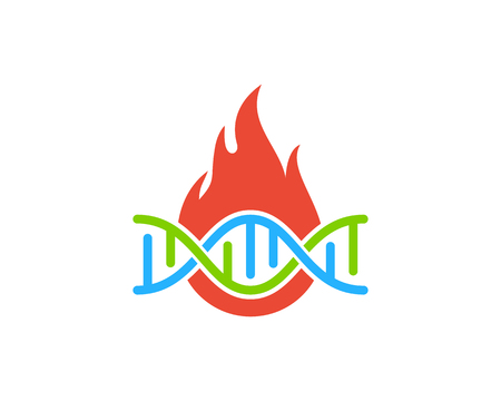 Flame Dna Logo Icon Design