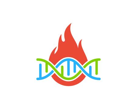 Flame Dna Logo Icon Design