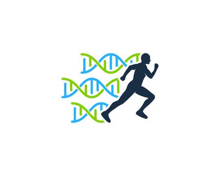 Run Dna Logo Icon Design 일러스트