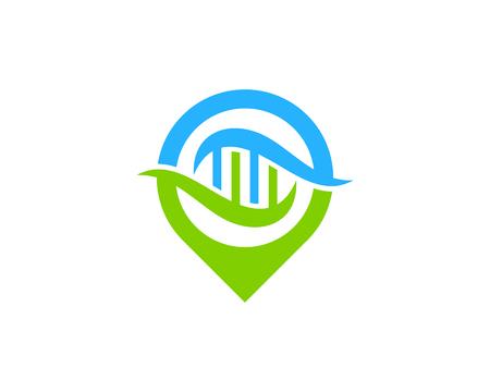 Spot Dna Logo Icon Design Illustration
