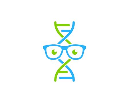 Glasses Dna Logo Icon Design Illustration