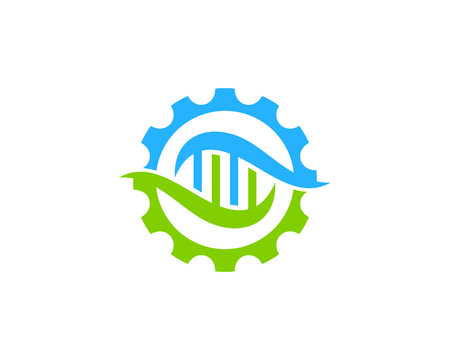 Engineering Dna Logo Icon Design Stock Vector - 101089121