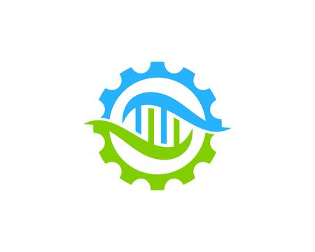 Engineering Dna Logo Icon Design Illustration