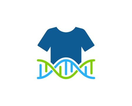 Cloth Dna Logo Icon Design Illustration
