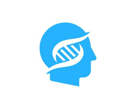 Head Dna Logo Icon Design Illustration