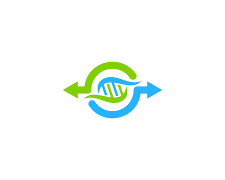 Transfer Dna Logo Icon Design Illustration