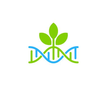 Green Dna Logo Icon Design