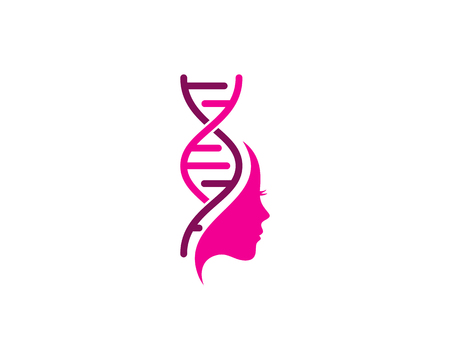 Beauty Dna Logo Icon Design Иллюстрация