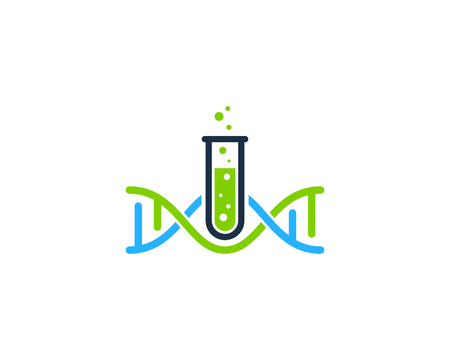 Chemical Dna Logo Icon Design Stock Illustratie