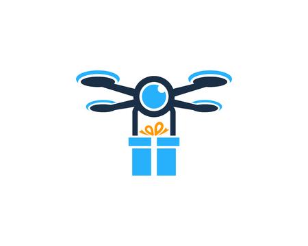 Gift Drone Logo Icon Design