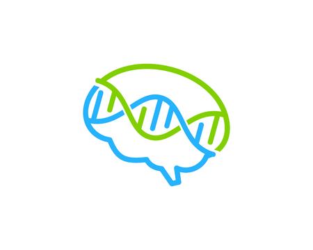 Mind DNA icon design.