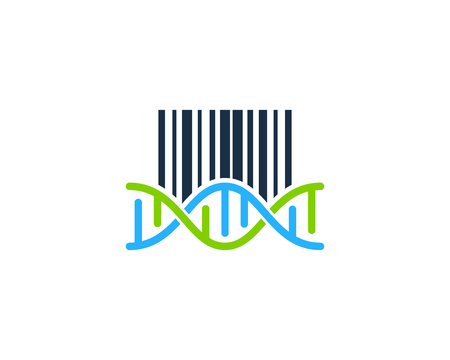 Barcode Dna Logo Icon Design Ilustrace