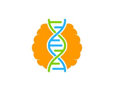 Brain Dna Logo Icon Design Illustration