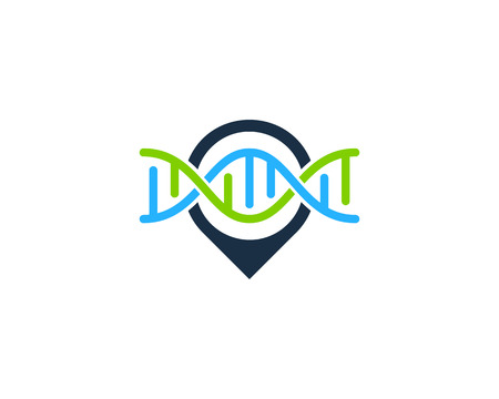 Point Dna Logo Icon Design