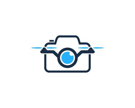 Camera Drone Logo Icon Design Illustration