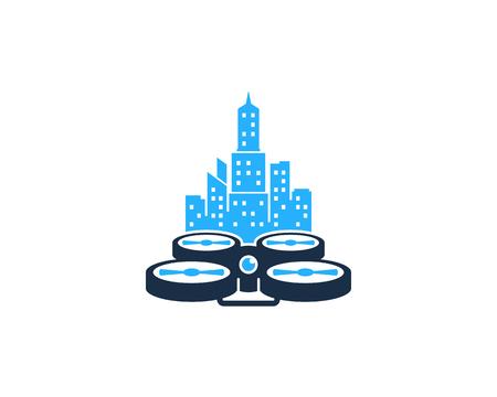 City Drone Logo Icon Design