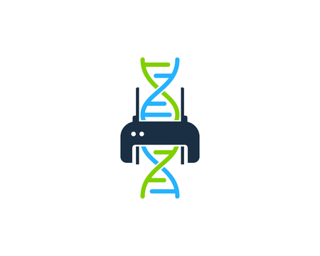 Print Dna Logo Icon Design