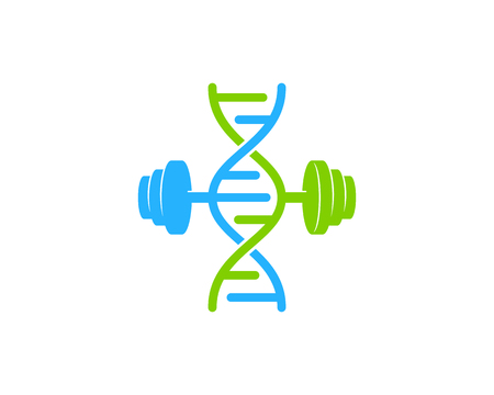 Barbell Dna Logo Icon Design