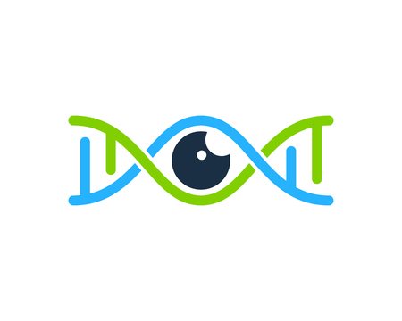 Vision Dna Logo Icon Design Illustration