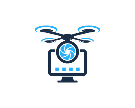 Desktop Drone Logo Icon Design