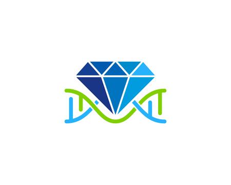 Diamond Dna Logo Icon Design