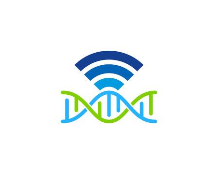 Wifi Dna Logo Icon Design Illustration