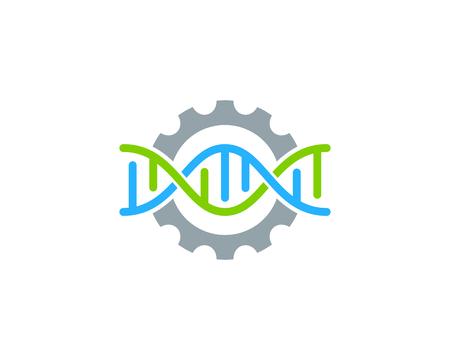 Wheel Dna Logo Icon Design