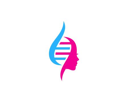 Beauty Dna Logo Icon Design Ilustração