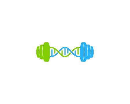 Workout Dna Logo Icon Design Vectores