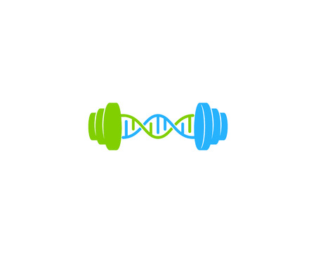 Workout Dna Logo Icon Design 向量圖像