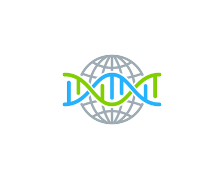 Earth Dna Logo Icon Design