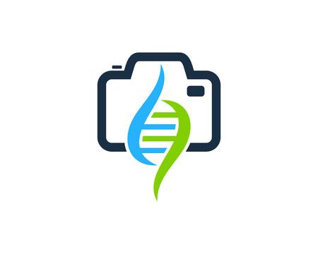 Camera Dna Logo Icon Design