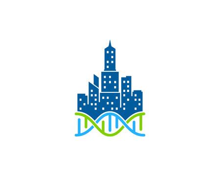Town Dna Logo Icon Design Illustration
