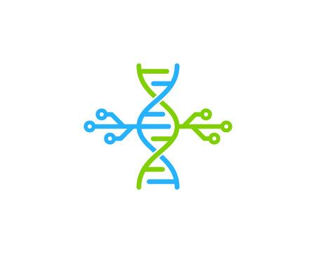 Digital Dna Logo Icon Design Çizim