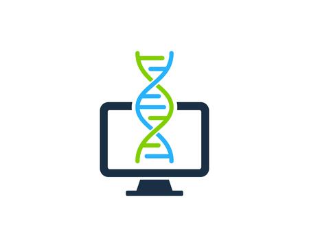 Computer Dna Logo Icon Design
