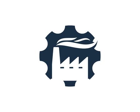 Enginnering Factory Logo Icon Design Illustration