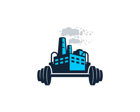 Barbell Factory Logo Icon Design