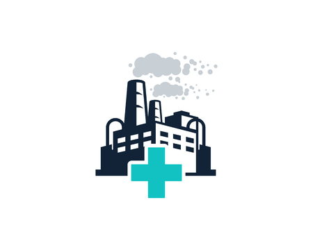 Medical Factory Logo Icon Design Vettoriali