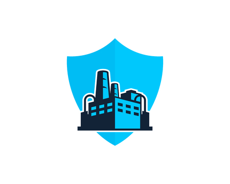 Protection Factory Logo Icon Design Illustration