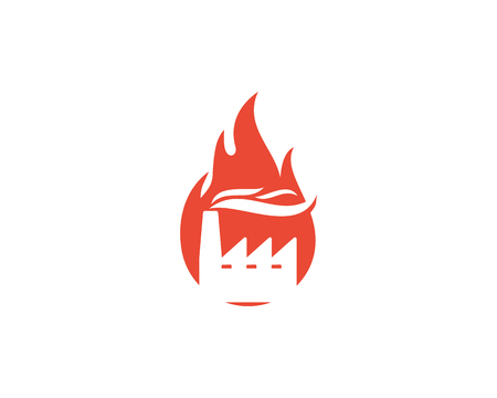 Flame Factory Logo Icon Design Çizim