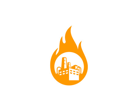 Burn Factory symbol Icon Design Illustration
