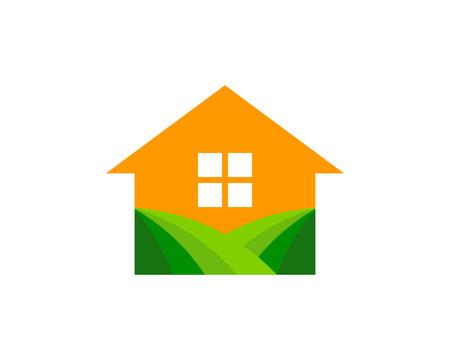 Home farm icon design.