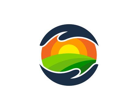 Support farm icon design.