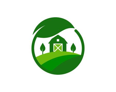 Eco farm icon design. Illustration