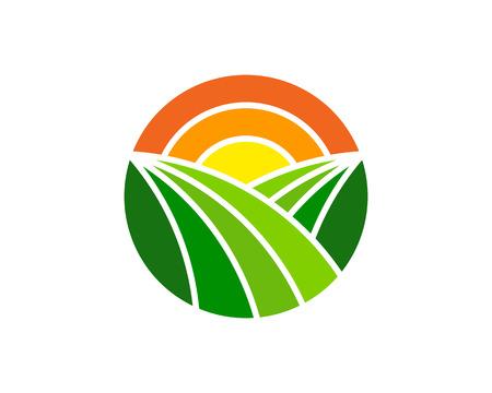 Farm icon design. 일러스트