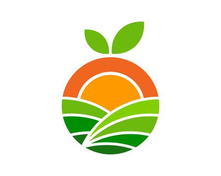 Fruit farm icon design.