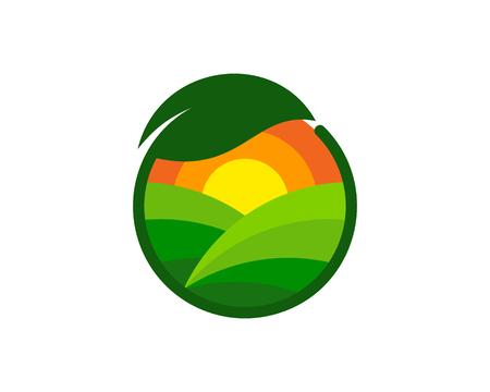 Green farm icon design.