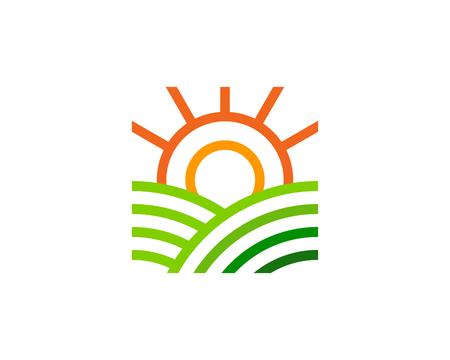 Sunny farm icon design. Stok Fotoğraf - 101264611