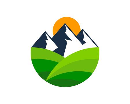Berg embleemontwerp pictogram Vector Illustratie